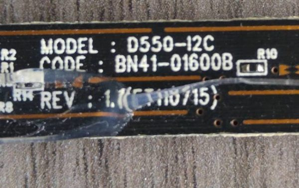 Carte Sensitive Télé SAMSUNG UE32C6740SS Référence: BN41-01600B