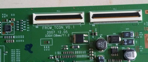 Carte T-CON Télé SAMSUNG LE52A856 Référence FRCM-TCON V0.1 230X138mm