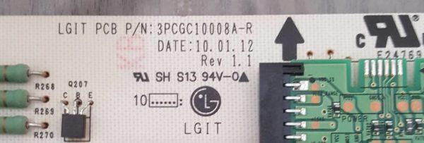 Carte Alimentation Télé LG 42LE5510 Référence: EAY60803101 PLDF-L903A