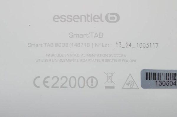 Ensemble Carte Mère+Batterie Tablette ESSENTIEL B SMART TAB B003